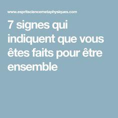 7 signes qui indiquent que vous êtes faits pour être ensemble