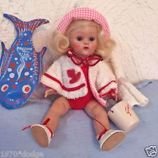 VOGUE GINNY DOLL, Strung, Hard plastic Beach Ginny #48 with extra's