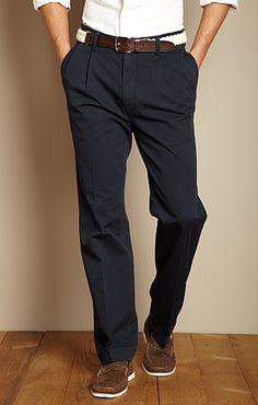 TRUE KHAKI Cuffed Double-Pleat Pant ... Great alternative for any male wardrobe