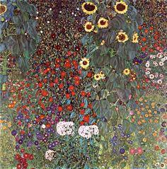 Country Garden with Sunflowers / Подсолнухи в деревенском саду. 1905-1906гг