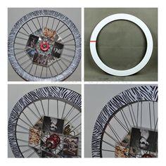 Reflective Wheel Set Car Bicycle Dead Flywheel Cutter Ring Gear Zebra Stickers | eBay