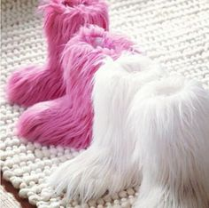 pink fluffy ugg boots