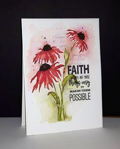 40-546 Dancing daisies et 30-409 Faith de Penny Black par Micheline 'Mimi' Jourdain