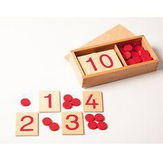 Zahlenschilder mit Zählplättchen