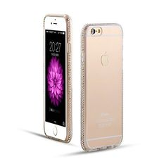 Perfectly designed for Apple iPhone 6/6S and iPhone 6/6S PLUS modelsClear soft TPU case is perfect to use on top of our glitter decals for extra protection for your phone and includes a full bling diamond bumper.Better shock absorbency with streng...