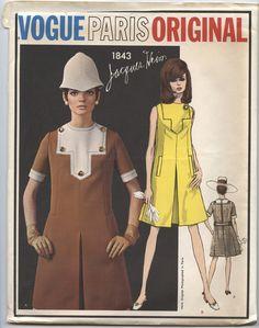 1960's Vintage Vogue Paris Original Jacques Heim Pattern 1843