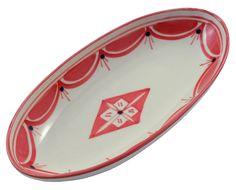 Small Hand-painted Oval Platter - Nejma