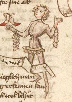 Thomasin : Der welsche Gast Schwaben, 3. Viertel 15. Jh. Cgm 571  Folio 21