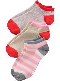 Girls Fashion Ankle Sock 3-Packs