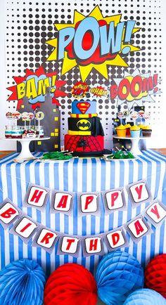 Superhero Birthday Party on Kara's Party Ideas | KarasPartyIdeas.com (7)