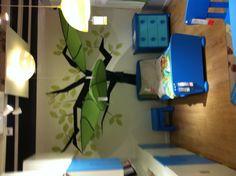 Tree with Ikea Lovas leaf canopies.