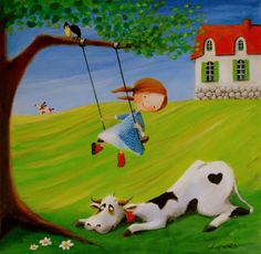 quenalbertini: Ulla and Her Friends by Iwona Lifsches Arte Pop, Am Meer, Naive Art, Cute Illustration, Pretty Pictures, Illustrators, Art For Kids, Folk Art, Art Drawings
