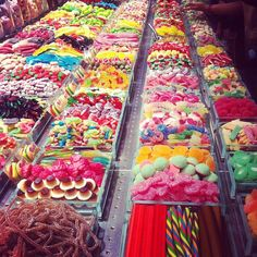 All you can eat candy bar in Barcelona-- see you in a month!