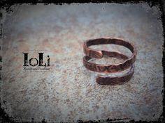 Copper wire ring - Δαχτυλίδι με σύρμα χαλκού - https://www.facebook.com/IoLiHandmadeCreations