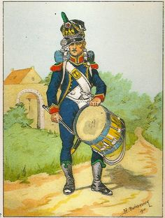 French; Imperial Guard, 2nd Regiment Conscrit Chasseurs, Drummer, Grande Tenue, 1809-10