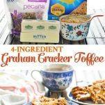 Graham Cracker Toffee, Graham Crackers, Crack Brownies, Christmas Bark, Toffee Bars, Butter Pecan, 4 Ingredients, Baked Goods