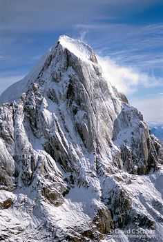 The Broken Tooth (also known as Moose Tooth) peak SE of Mt. McKinley, located in Denali National Park, Alaska.  Photo: David Schultz