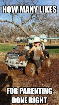 I will be so proud except he will be in a ford rapter