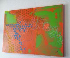 Abstraktes Original Acrylfarbe auf Leinwand von abstractartmoewchen