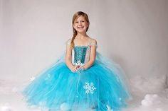 Queen Elsa Inspired Winter Snowflake Sequin Tutu Dress