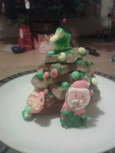My 2 year olds gingerbread tree made from a kit