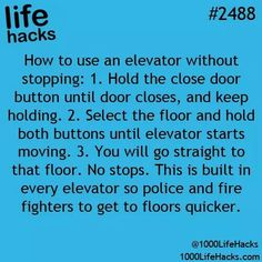 Life Hacks) Elevator hacks: I need this each morning and during lunch!Elevator hacks: I need this each morning and during lunch! School Life Hacks, Life Hacks Diy, Hack My Life, Simple Life Hacks, Useful Life Hacks, Life Tips, Diy Hacks, Life Hacks For Girls, Life Hacks Every Girl Should Know