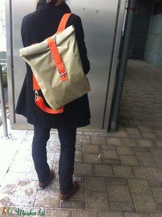 Roll up hátizsák (deer) - Meska. Unique Backpacks, Sports Activities, Handmade Bags, Rolls, Sporty, Pocket, Stylish, Deer, Nude