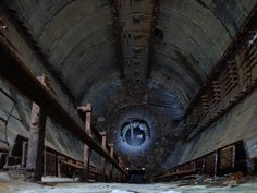 Cold War remnants - looking into an abandoned Russian missile silo.