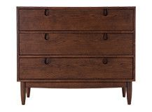 Penn Compact Chest of Drawers, Dark Stain Ash