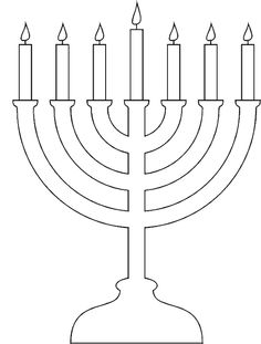 Happy Hanukkah menorah and candles activity sheet  Coloring Books