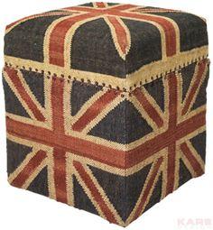 Stool Box Union Jack Vintage