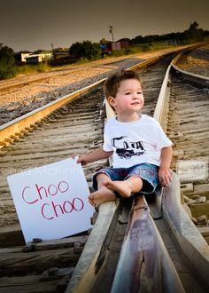 2 Year Old Trains Track Choo Choo sunset