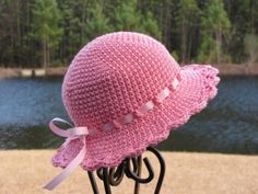 Sun Hat Beach Hat Crochet Baby Hat Easter Hat by CreativeDragonfly, $25.00