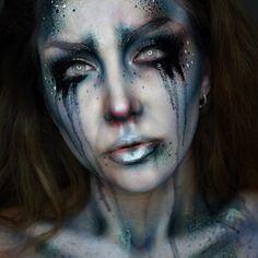15 Insanely Creepy And Cool La Llorona Halloween Makeup Looks Ghost Makeup, Witch Makeup, Sfx Makeup, Costume Makeup, Makeup Art, Zombie Makeup, Makeup Eyes, Halloween Looks, Halloween Inspo