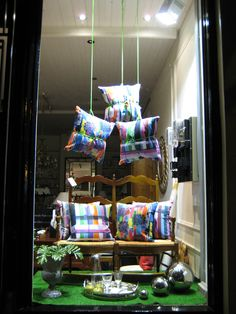 Idea for hanging cushions