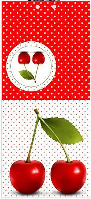 Cereja Vermelha - Kit Completo com molduras para convites, rótulos para guloseimas, lembrancinhas e imagens!