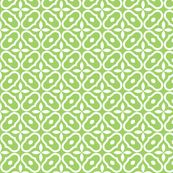 Mosaic - Leaf Green © 2010 fabric by Inscribed_here