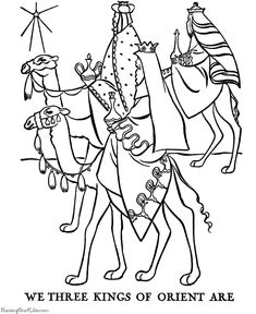 The Three Wisemen coloring pages!