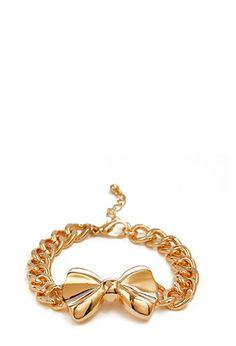 Bow Chain Bracelet | FOREVER21 - 1000086469