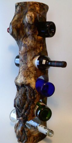 Eccentric Log Wine Rack