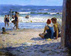 Soleil et ombre, huile sur toile de Edward Henry Potthast (1879-1881, United States)