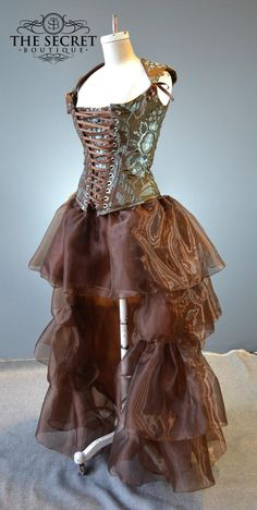 Ruffle skirt high low layered fairytale fantasy steampunk gothic cosplay wedding skirt separate-petite to plus size custom made Viktorianischer Steampunk, Steampunk Skirt, Steampunk Costume, Steampunk Clothing, Steampunk Fashion, Gothic Fashion, Steampunk Necklace, Emo Fashion, Steampunk Makeup