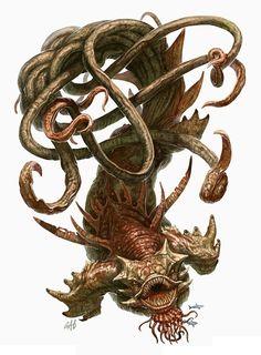 Image result for sea hag 5e Le Kraken, Kraken Art, Fantasy Creatures, Mythical Creatures, Sea Creatures, Strange Creatures, Creature Feature, Creature Design, Zbrush