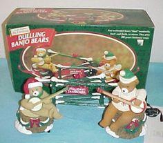 Mr christmas animated duelling banjo bears 1997 beautiful ebay