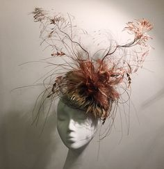 Ladies Summer Straw Hat Fascinator by HouseofNinesDesign on Etsy