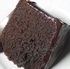 You Won't Know it's Kinda Healthy Chocolate Cake Best Ever Chocolate Cake, Tasty Chocolate Cake, Healthy Chocolate, Chocolate Frosting, Chocolate Fudge, Mint Chocolate, How To Make Custard, Cakes Without Butter, Egg Ingredients