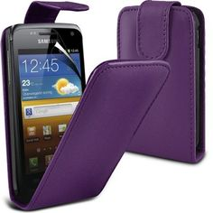 Buy Samsung Galaxy W i8150 Leather Flip Case Cover (Dark Purple) Plus Free Gift, Screen Protector and a Stylus Pen, Order Now Best Valued Phone Case on Amazon! By FinestPhoneCases NEW for 10.99 USD | Reusell