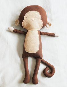 Monkey Sewing Pattern Chimp Softie Plush Toy Cloth Doll by ElfPop