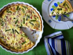 Ham and Asparagus Quiche - a Simple Savory Pie from Weelicious (http://punchfork.com/recipe/Ham-and-Asparagus-Quiche-a-Simple-Savory-Pie-Weelicious)