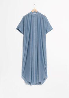& Other Stories image 1 of Silk Blendt Dress in Blue